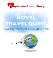 Captivated By The Story- Novel Travel Quest text above an image of a globe and and aeroplane